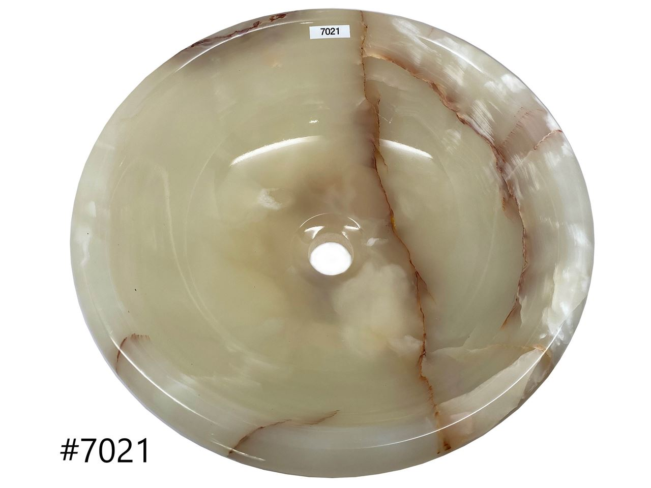 Picture of SoLuna White Rounded Onyx Vessel Bath Sink - Sale