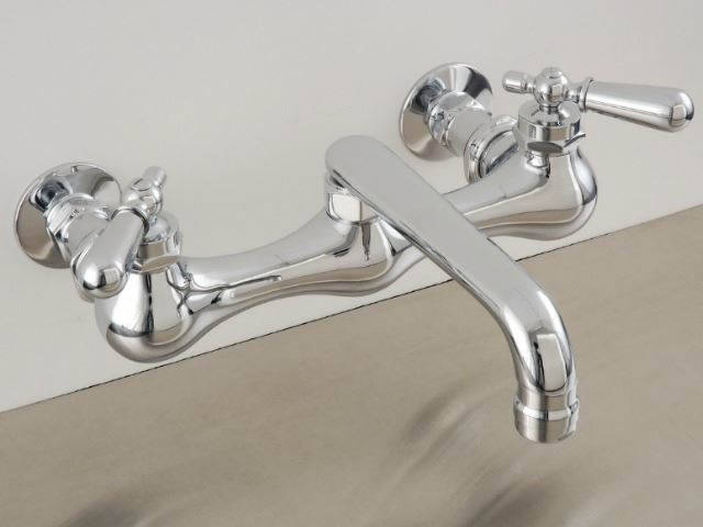 "Picture of Strom Plumbing Wall-Mounted 8"" Kitchen Faucet"