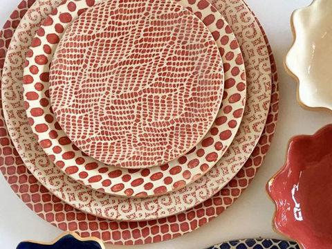 Terrafirma Ceramics   Poppy   4-pc