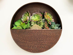 Picture of Round Hanging Copper Wall Planter by SoLuna