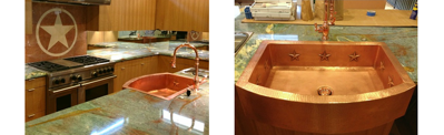 Warren's Texas Star Copper Farmhouse Sink