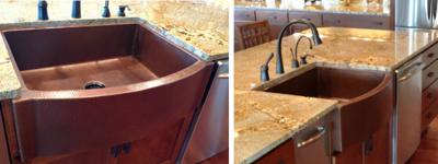 Julie S' Copper Farmhouse Sink