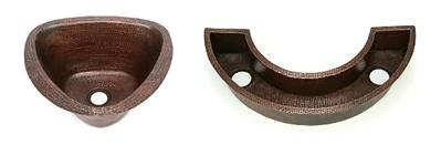 Unusually Shaped Copper Bar & Prep Sinks