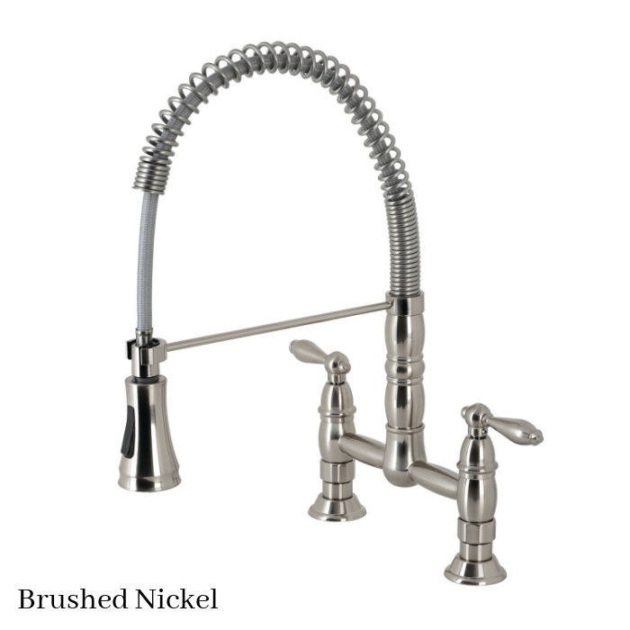 Gourmetier Heritage faucet GS1278AL Brushed Nickel finish
