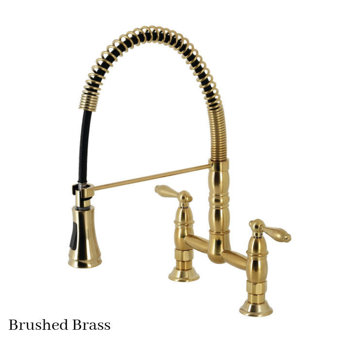 Gourmetier Heritage faucet GS1277AL Brushed Brass finish