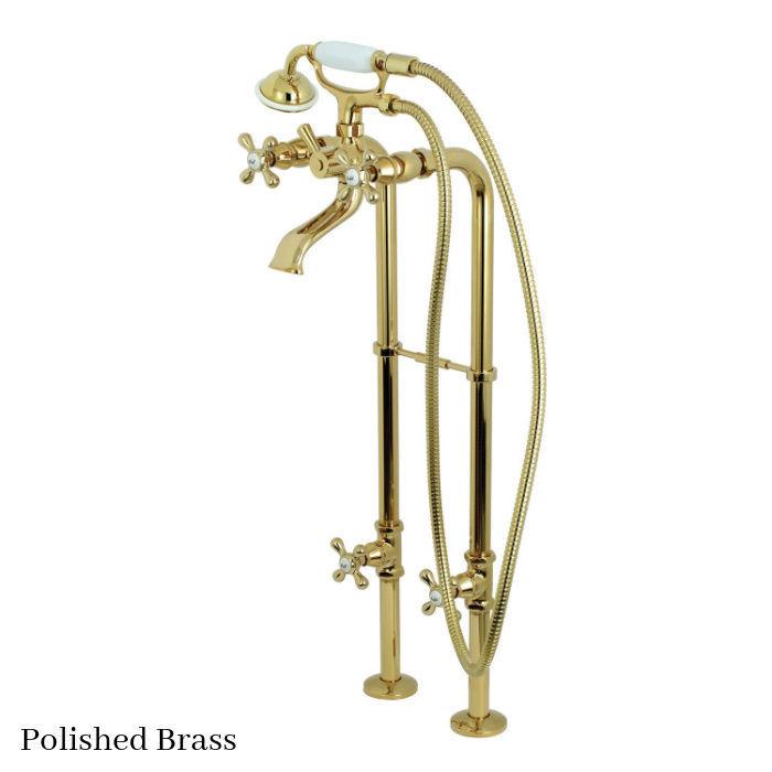 Kingston Brass Floor Mount Tub Filler Faucet CCK266K2 Polished Brass Finish