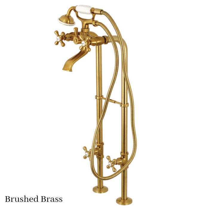 Kingston Brass Floor Mount Tub Filler Faucet CCK266K7 Brushed Brass Finish