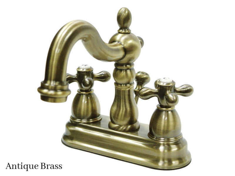 "Kingston Brass 4"" Heritage Centerset Bath Faucet KB1603AX Antique Brass Finish"
