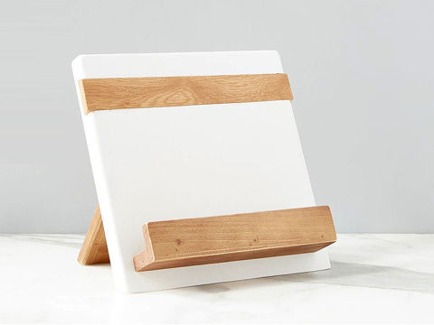 Reclaimed Wood Cook Book / iPad Holder in White