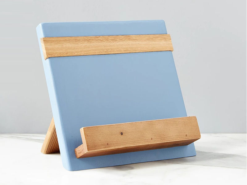 Picture of Reclaimed Wood Cook Book / iPad Holder in Denim