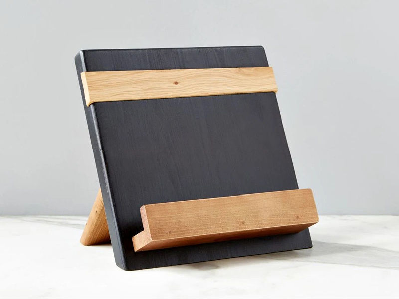 Picture of Reclaimed Wood Cook Book / iPad Holder in Black