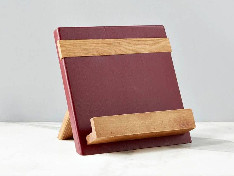 Picture of Reclaimed Wood Cook Book / iPad Holder in Merlot