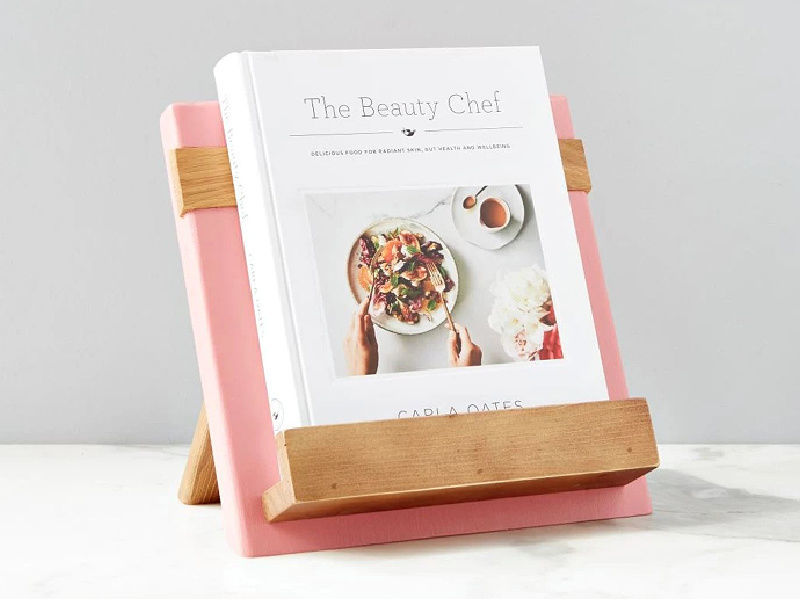 Picture of Reclaimed Wood Cook Book / iPad Holder in Pink