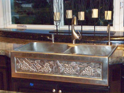 "40"" Chameleon Double Well Bronze Farmhouse Sink"