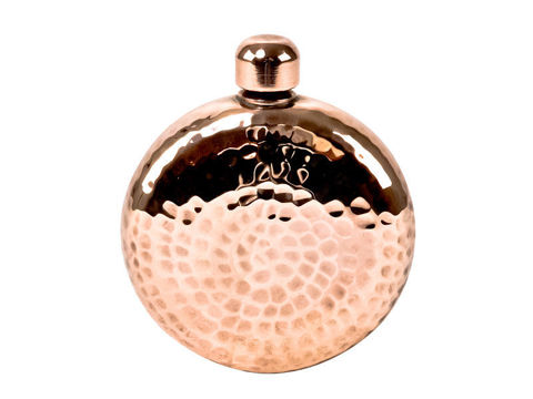 Horizon Polished Copper Round Hip Flask By SoLuna