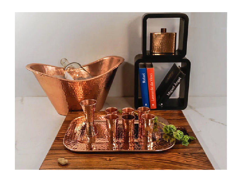 Picture of Polished Copper Shot Glasses By SoLuna