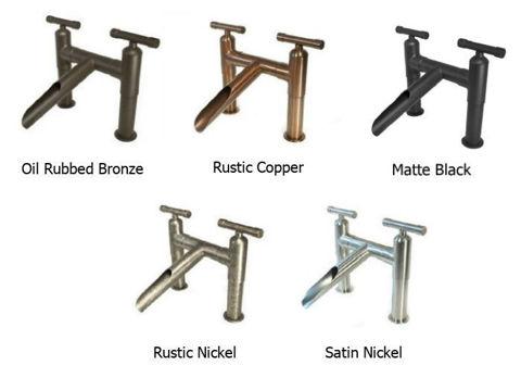Sonoma Forge | Bathroom Faucet | Waterbridge Square Spout | Deck Mount
