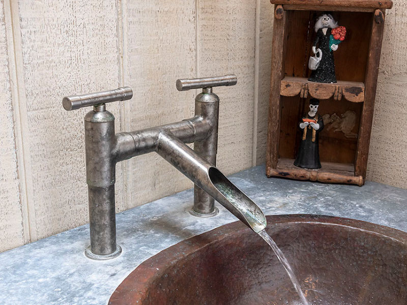 Picture of Sonoma Forge   Bathroom Faucet   WaterBridge Waterfall Spout   Deck Mount
