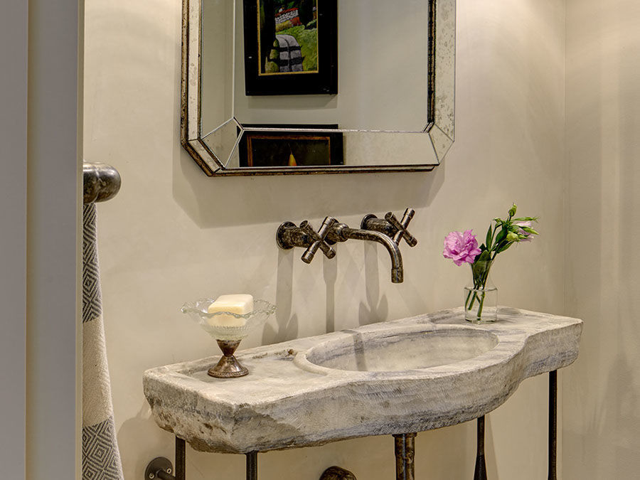 Picture of Sonoma Forge | Bathroom Faucet | Wherever with Cross Handles | Wall Mount