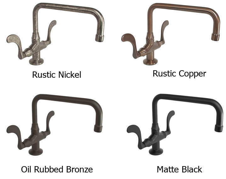 Picture of Sonoma Forge   Kitchen Faucet   Wingnut with Fixed or Swivel Spout   Deck Mount