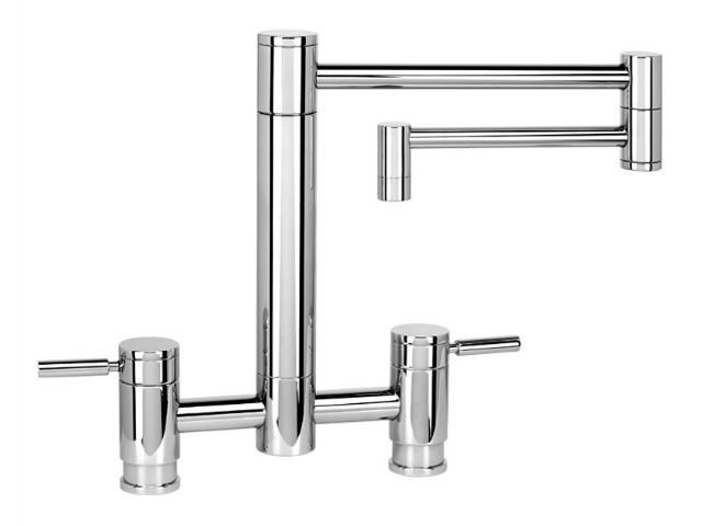 """Picture of Waterstone Hunley Bridge Kitchen Faucet with 18"""" Articulated Spout"""