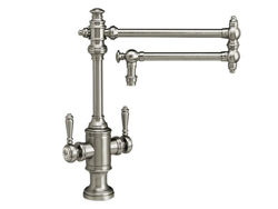 "Picture of Waterstone Towson Kitchen Faucet with Double Handles  - 18"" Articulated Spout"
