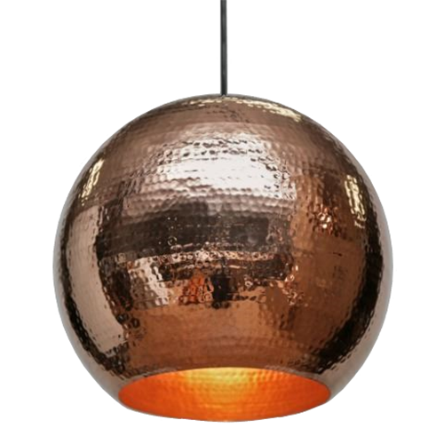 Copper Globe Pendant in Polished Copper Finish