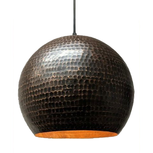 SoLuna Copper Globe Pendant in Rio Grande Finish